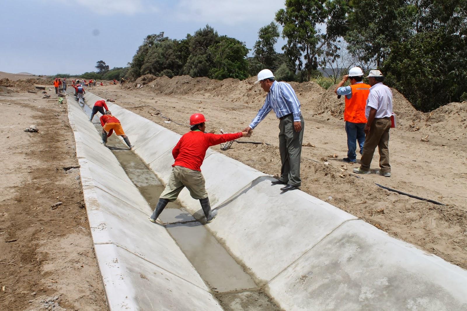 construccion de canales de riego