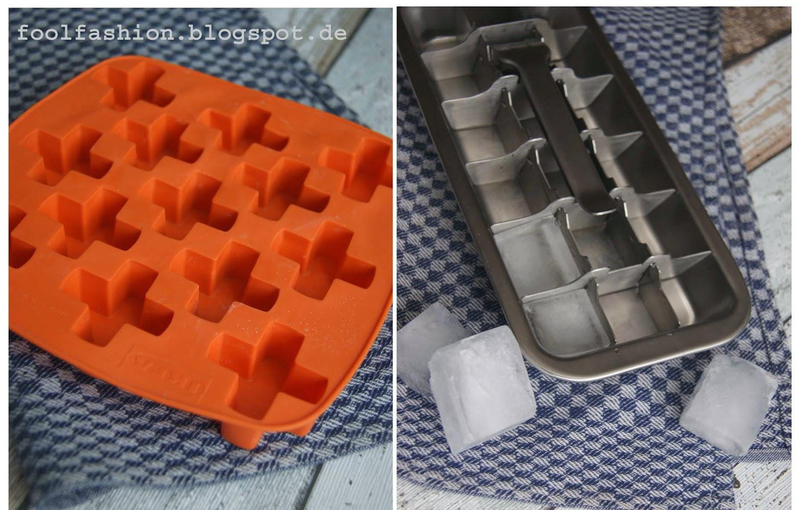 plastikfreie Eiswürfelform
