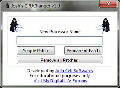 CPUChanger 1.0 - Change your processor name! CPUChanger%2B1.0%2B-%2BChange%2Byour%2Bprocessor%2Bname%2521
