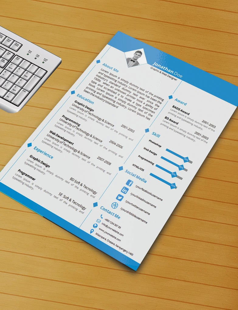resume word template download