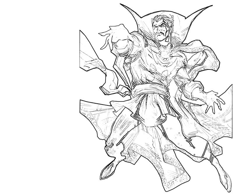 Printable Doctor Strange Serius Coloring Pages