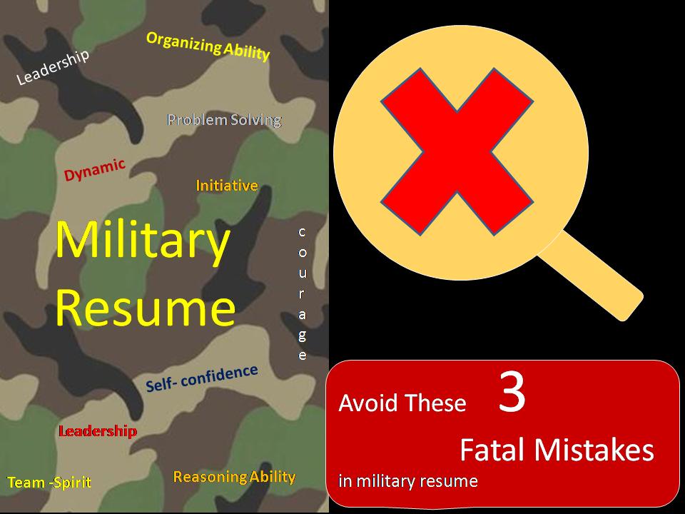 Military resume jargon