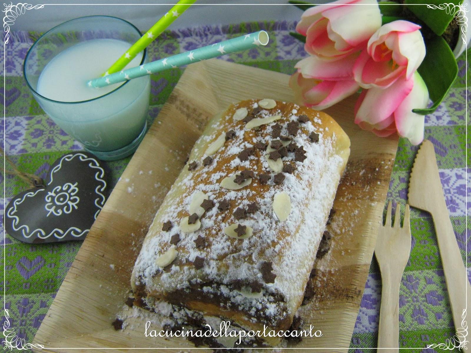 nuss strudel - strudel alla ricotta con castagne sciroppate al miele e crema alle nocciole