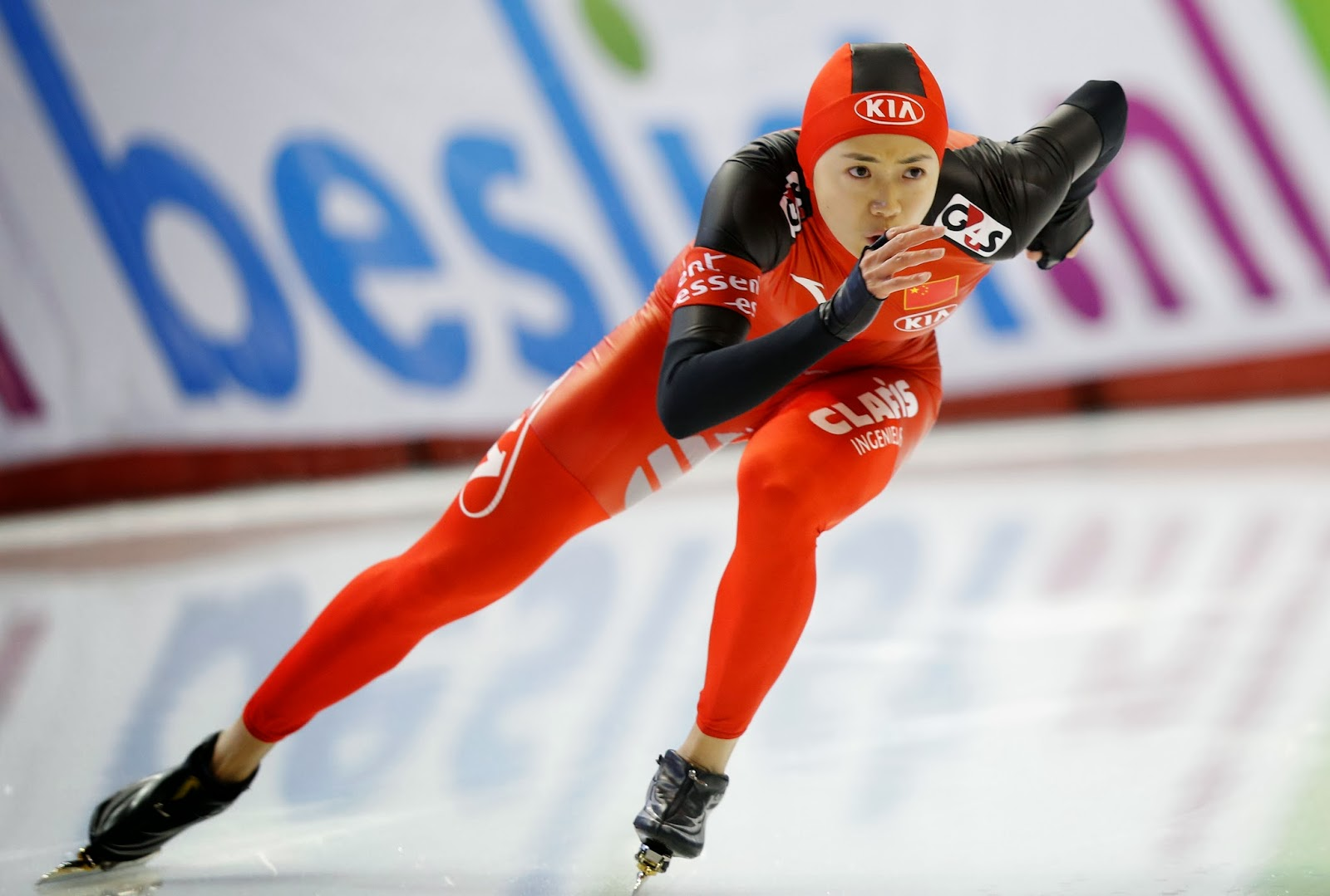 Canada:Womens 500 meter race during the ISU World Cup