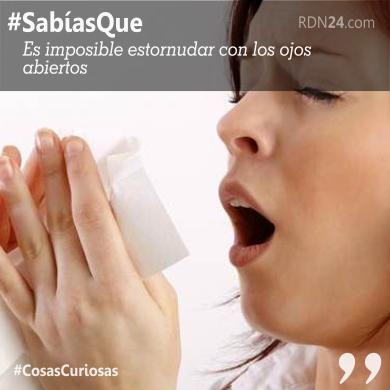 #SabíasQue Es imposible estornudar con los ojos abiertos