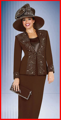 Ladies DeRegnaucourt Brown with Black Shadow Stripe Day Suit. #ADS-YXWTU7. The fabric on this suit is really neat. It is a dark brown suit with a black shadow stripe giving it a spectacular look.