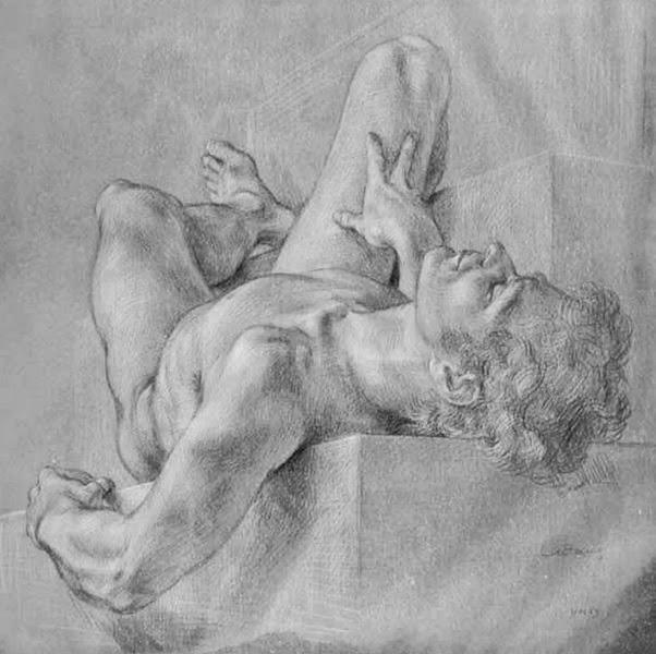 Imagen de arte de hombre desnudo