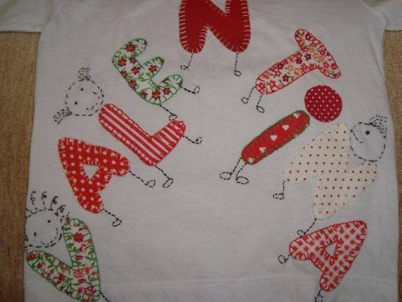 Com os moldes de letras é possível fazer patchworks para crianças ...
