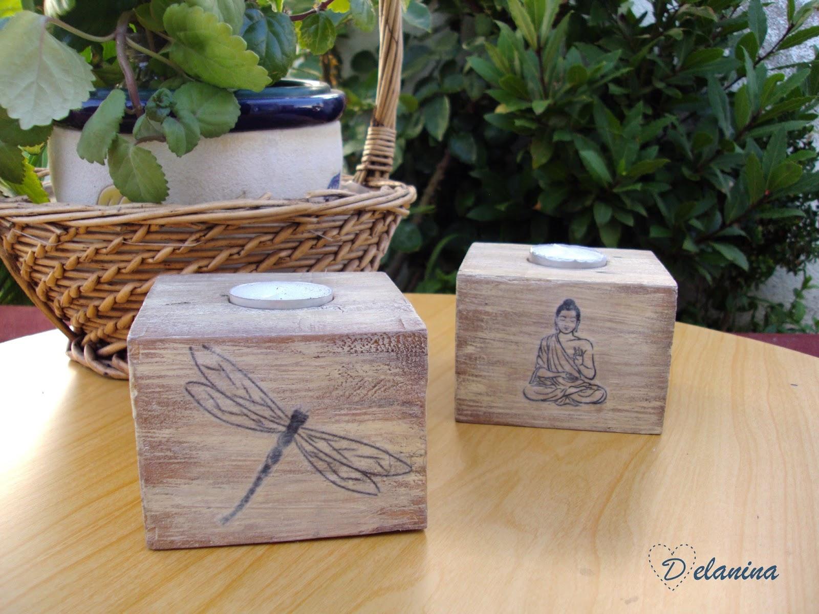 Diy portavelas de madera reciclada leroy merlin - Tablas madera leroy merlin ...