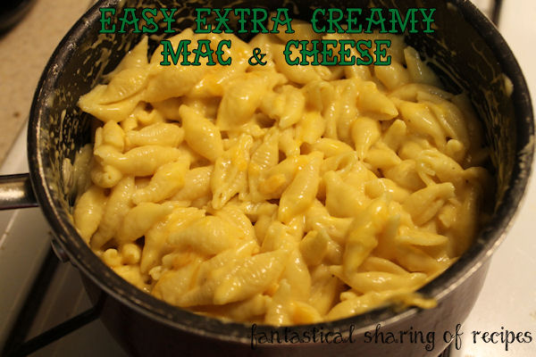 Easy Extra Creamy Mac & Cheese - better than the boxed stuff! #recipe #pasta