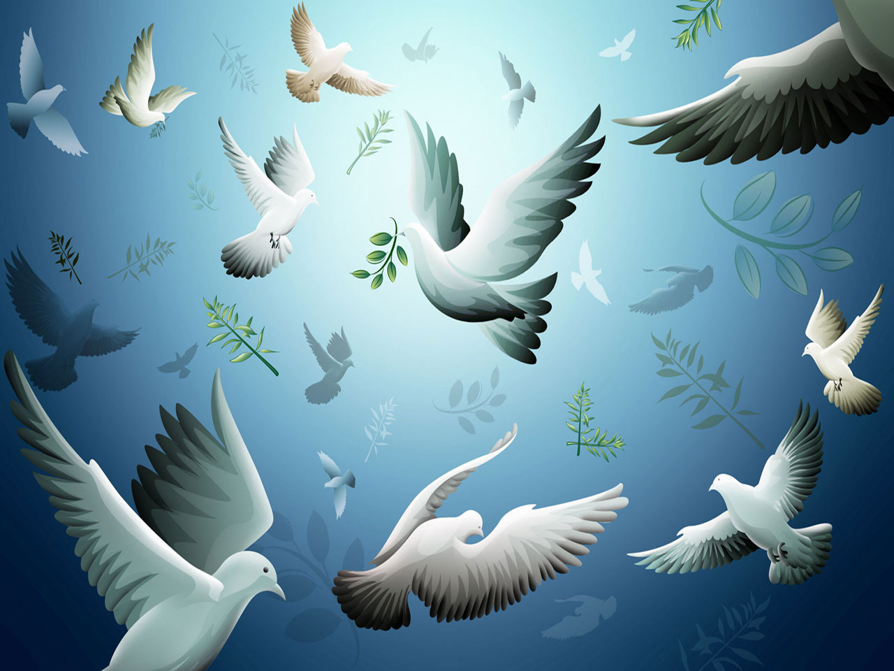 Animated Nature Wallpaper Animated Pigeons Wallpaper
