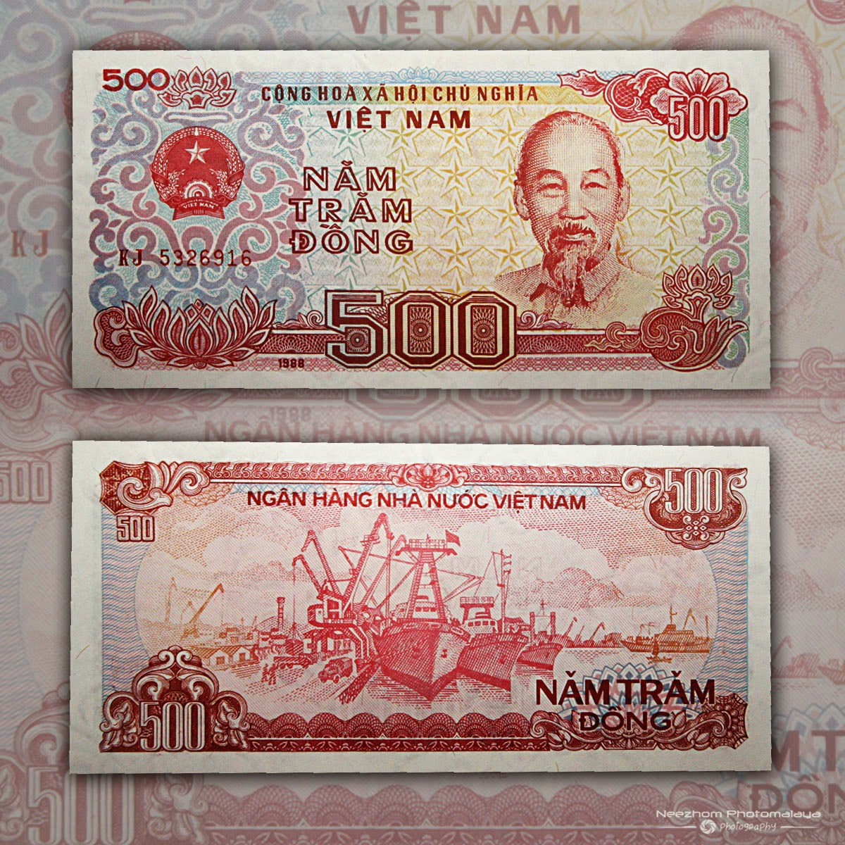 Vietnam banknote 500 Dong 1988