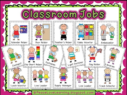 Stupendous image in free printable preschool job chart pictures