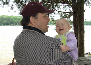 Kaia and Grandpa at Lake Anna State Park