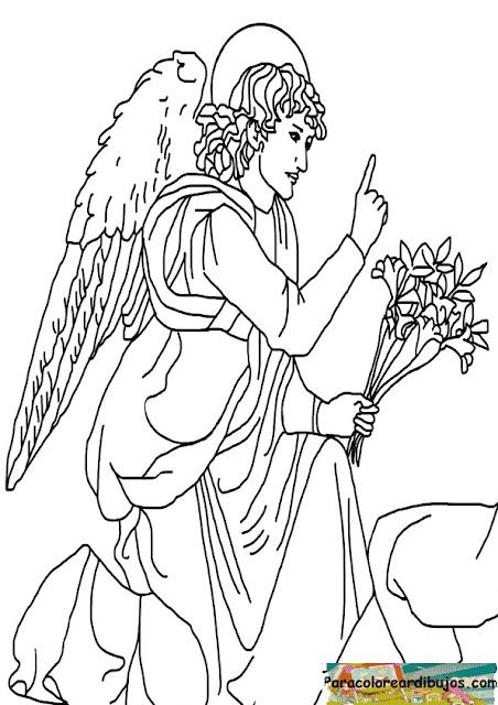 Arcangel para colorear
