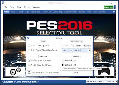 PES 2016 Selector Tool v1.1 by Ginda01