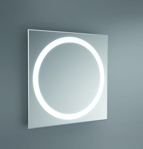 Espejo circular con luz fluorescente incorporada for Espejos para banos con luz incorporada