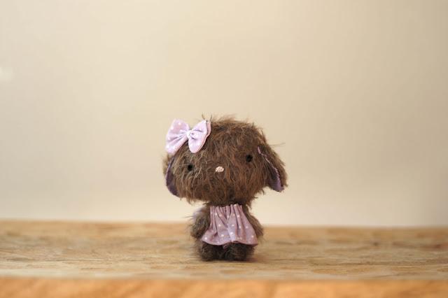 peluche hecho a mano morado personalizado lelelerele handmade