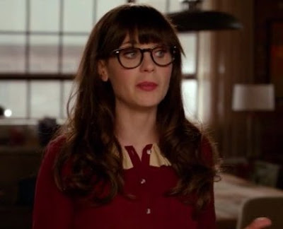 "Jess's Orla Kiely Solid Silk Crepe Pleat Collar Blouse New Girl Season 2, Episode 14: ""Pepperwood"""