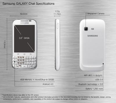 Pojetado para pessoas socialmente ativas Samsung anuncia Galaxy Chat