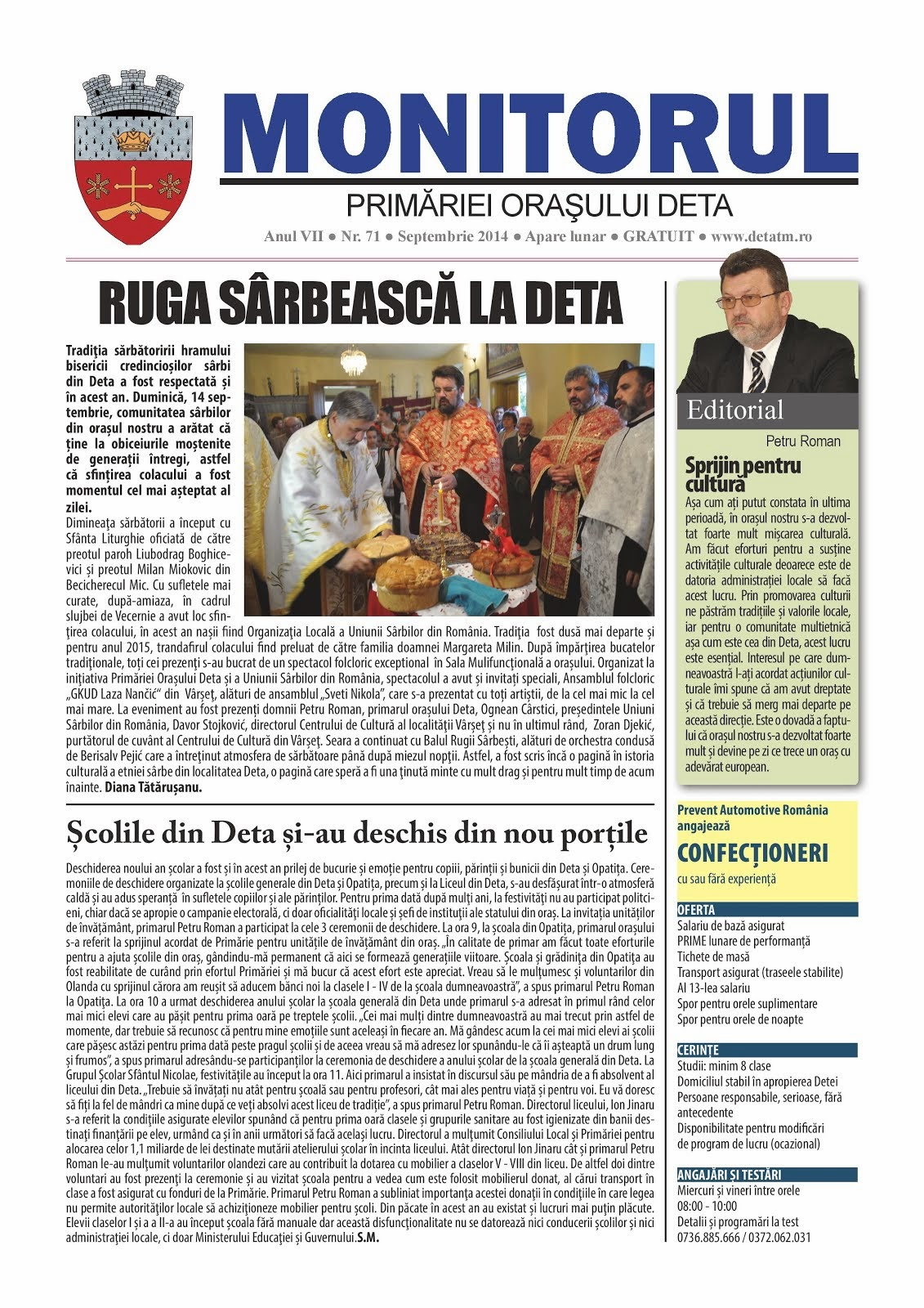 Monitorul - septembrie 2014