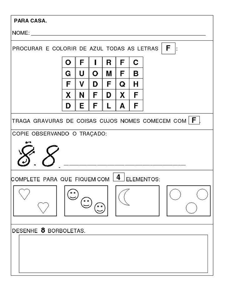 Desenhos Para Colori Atividades infantis desenhar