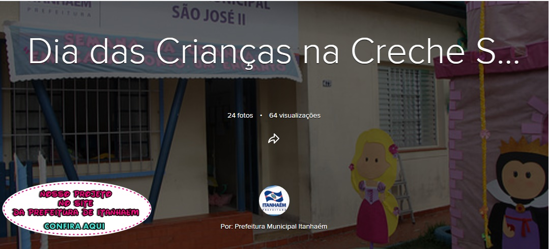 Dia das Crianças no Site da Prefeitura