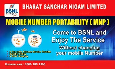 BSNL Mobile Number Portability (MNP) with BSNL 3G Mobile Plans