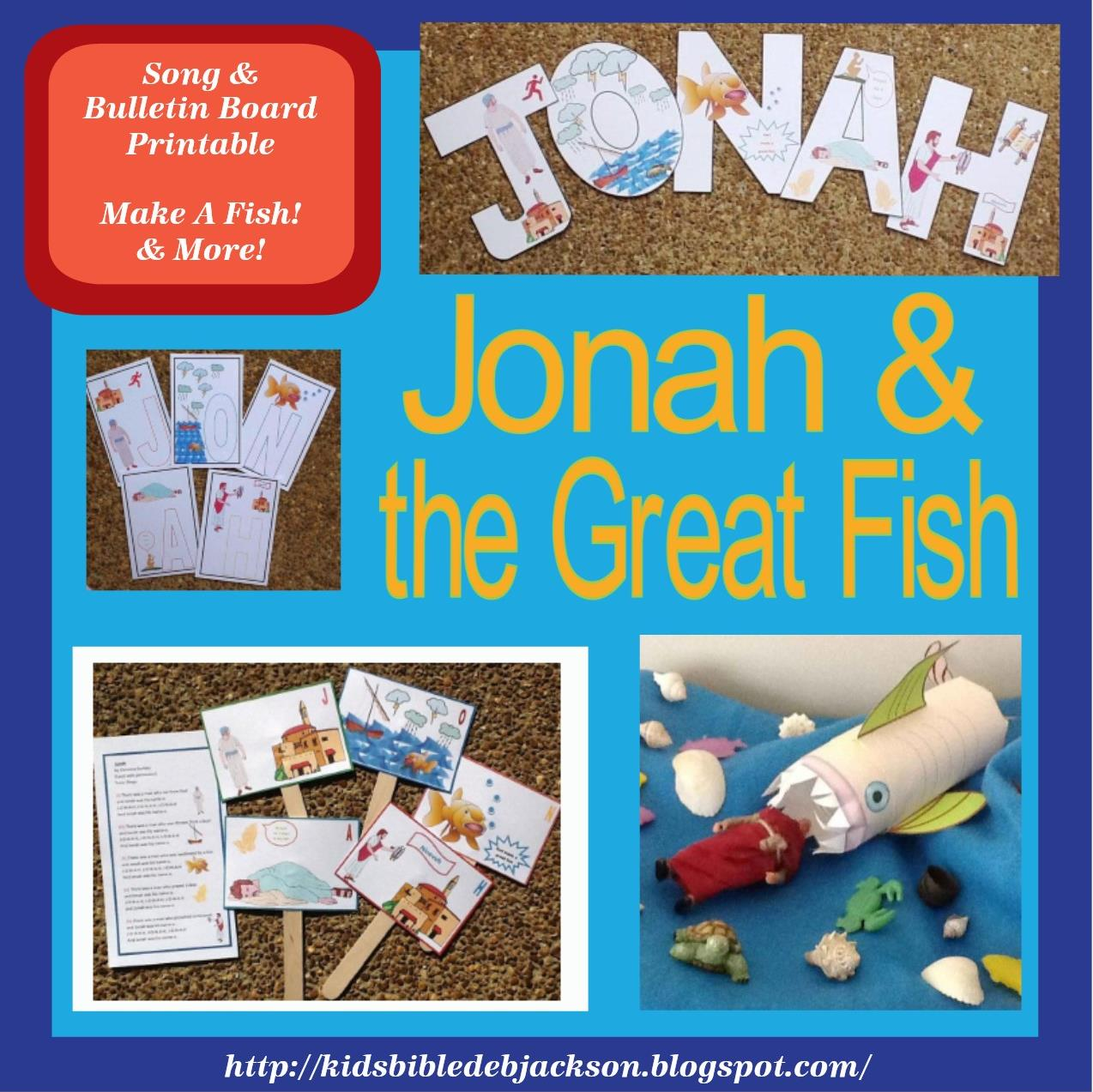 Jonah and the great fish for preschool