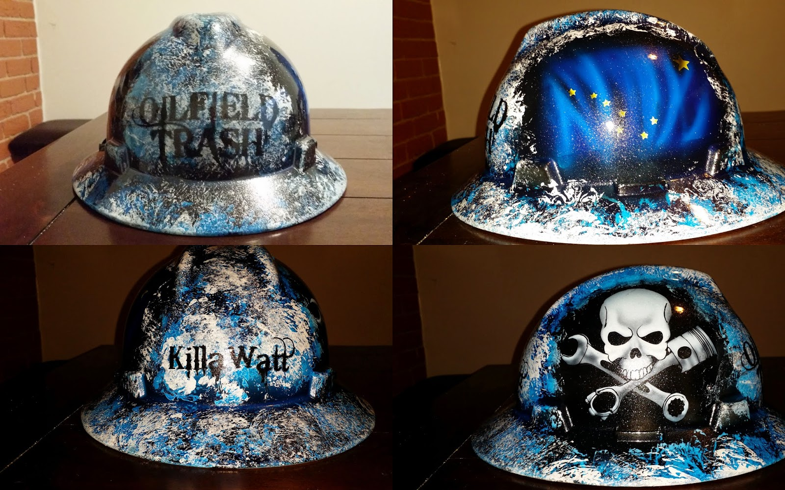 Zimmer DesignZ Custom Paint: Lots of new cool hard hat designs