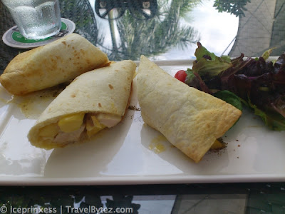 Chicken mango wrap