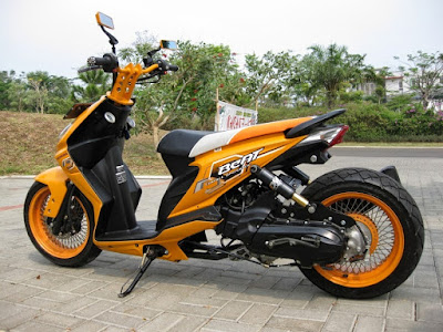 modifikasi motor beat standar, modifikasi motor beat low rider