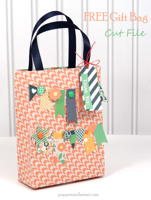 Mint, Coral & Navy Gift Bag