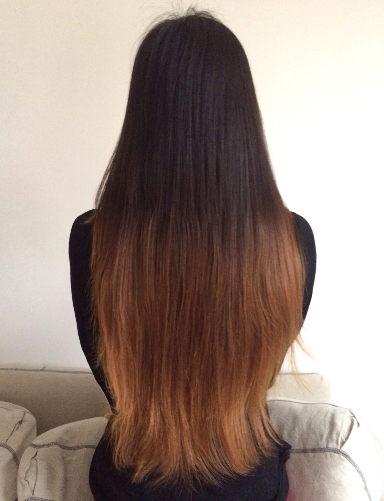 ombre hair back view diy cutting layers ombre hair with l