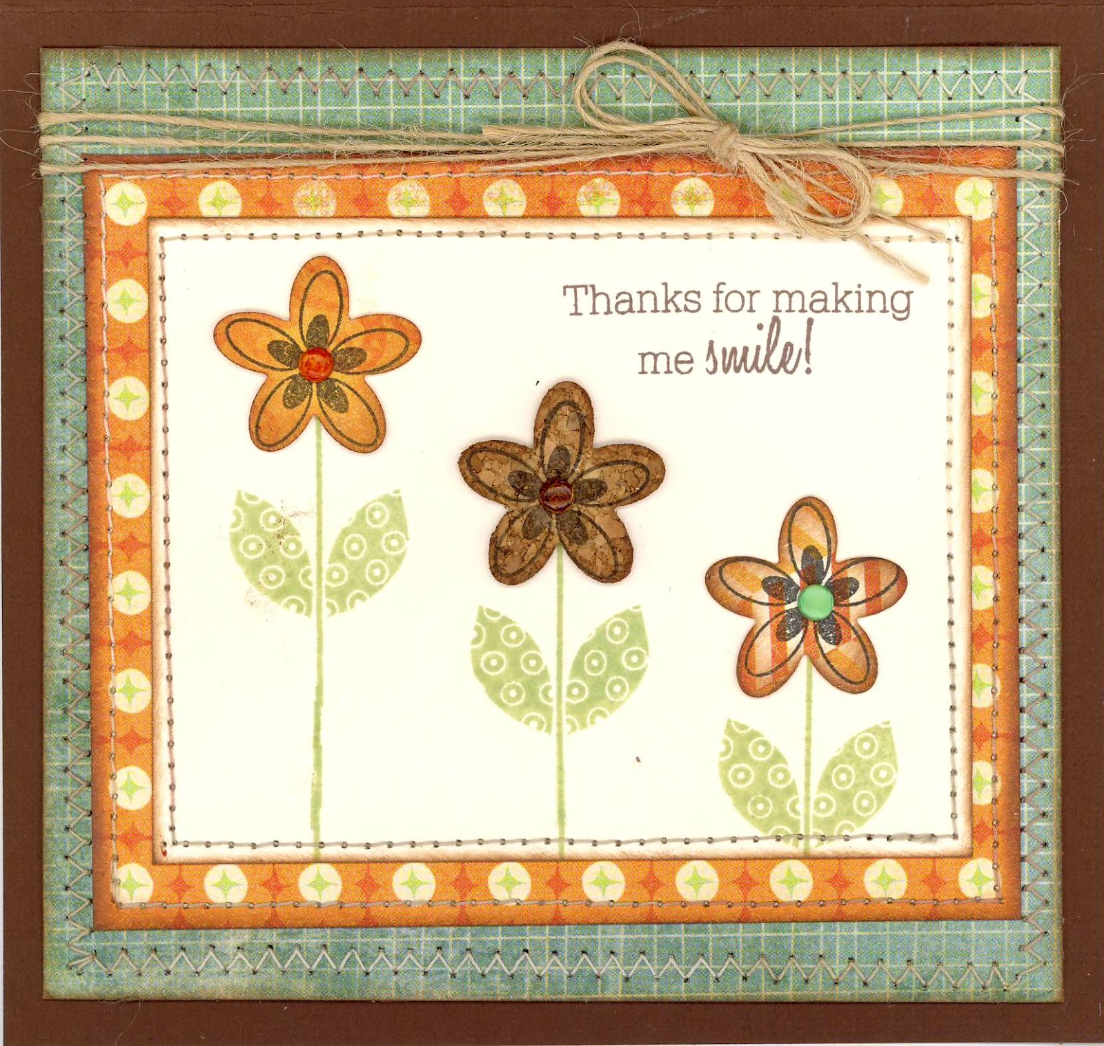 heres a little card i made as a thank you for gracious hospitality sent my way i also need to thank my sister heidi my lil scrap corner