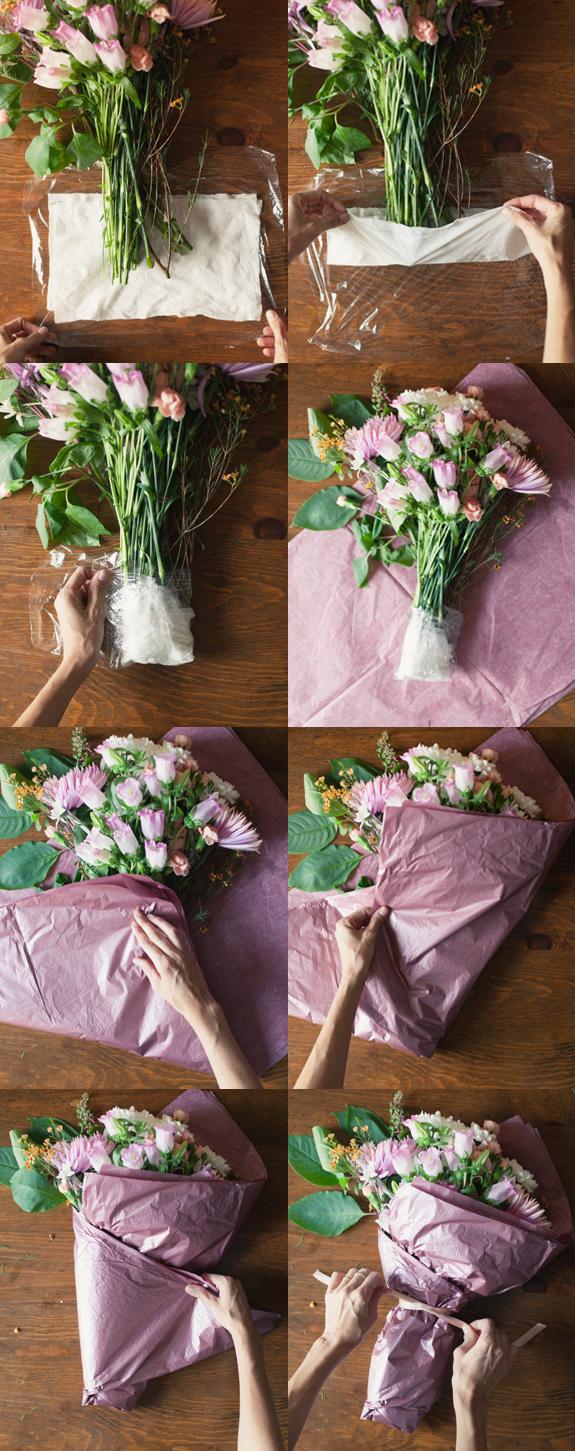 Как цветы в пленку пошагово