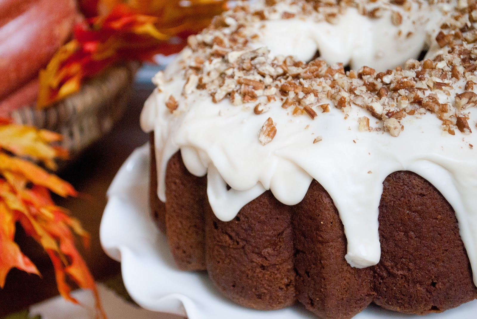 Ryan Bakes: Pumpkin Spice Bundt Cake with Cream Cheese Glaze