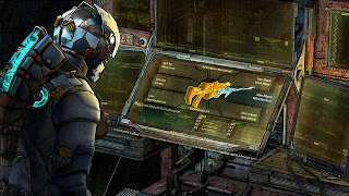 This is a Dead Space 3 Crafting Bench, where you construct weapons and items