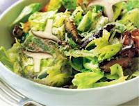 Salada de Alface com Shitake (vegana)