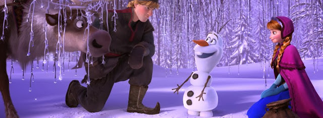 Olaf the snowman in Frozen disney movie