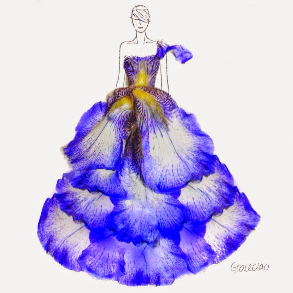 Simply creative floral fashion illustrations by grace ciao - Creatie dressing ...