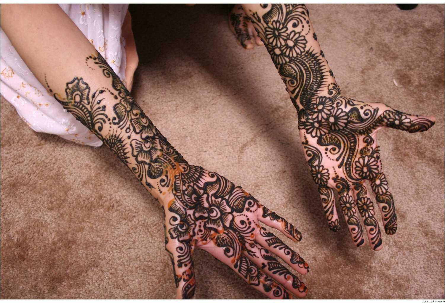 Dulhan Mehndi Designs For Full Hands 2014 : Cool latest bridal mehndi designs for hands