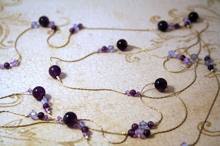 Purple Universe (sterling silver, Swarovski, amethyst) :: All Pretty Thungs