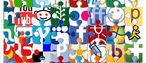 Puzzle Social Network Icon Set