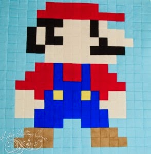 Super Mario Bros. Quilt Block using Quiltsmart Printed Interfacing