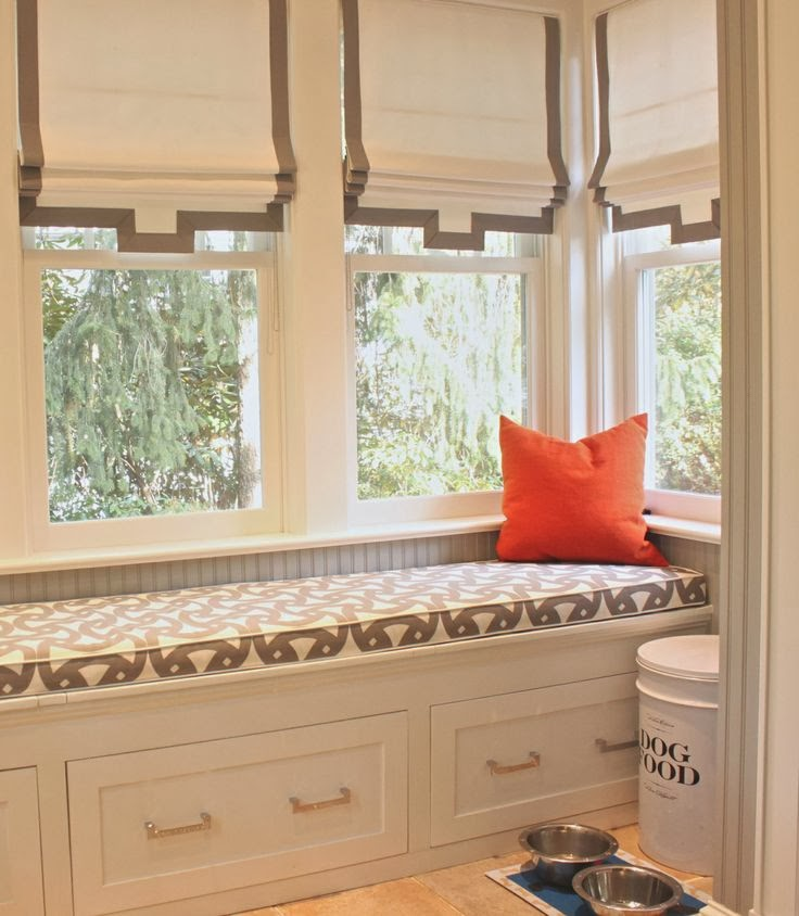 Roman Shades Kitchen Window Treatments: View From My Heels: Outside Mount Roman Shades