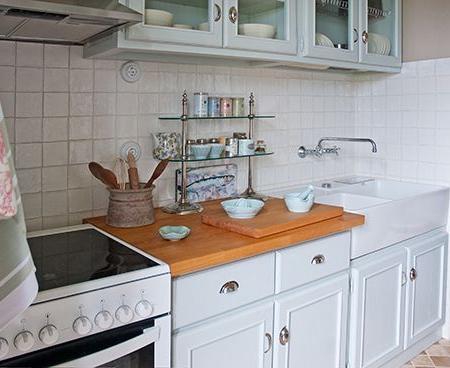 Fregaderos sobre mueble para cocinas r sticas reformas - Muebles con fregadero ...