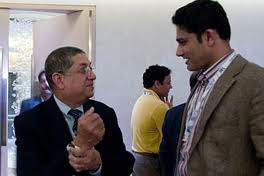 Srinivasan, Kumble talking at IPL 3 Player Auctions