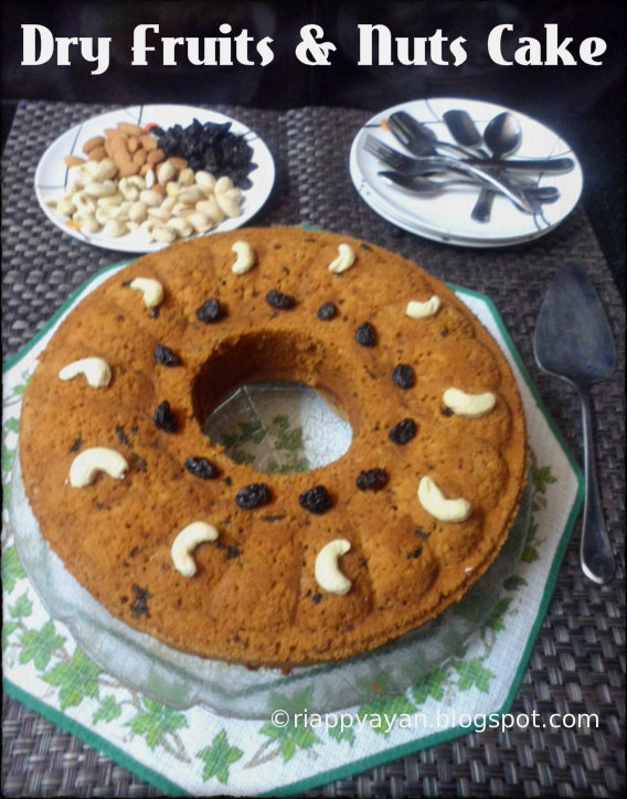 dry fruits healthy fruit cake recipe