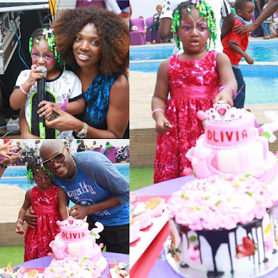 Tiwa Savage, AY, Darey, Others At 2face Idibia Daughter's Birthday Party (Photos)